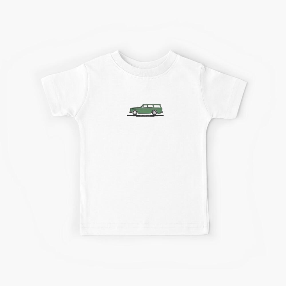 Volvo Amazon Station Wagon Kombi Green Eerkes Dad's and Boyfriend's Camiseta para niños