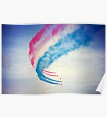 Red arrows with smoke trail Poster