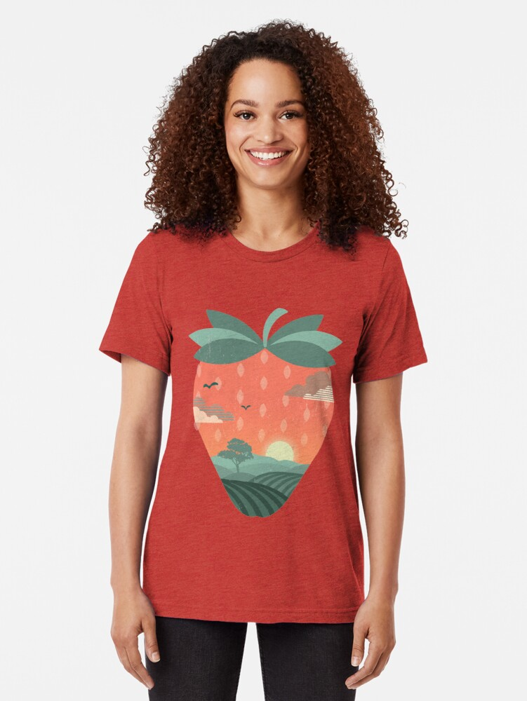 Alternate view of Strawberry Fields Tri-blend T-Shirt