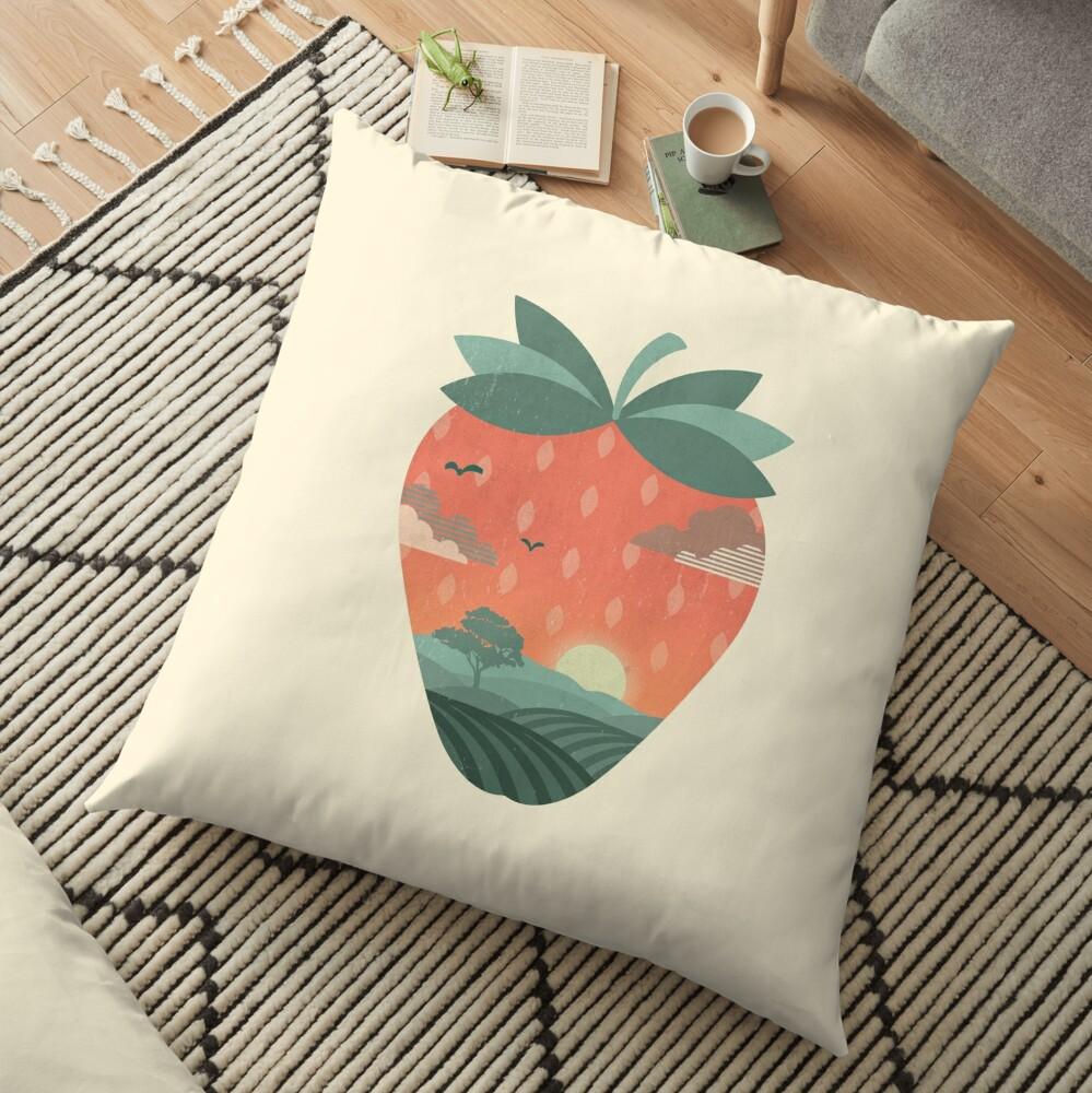 Strawberry Fields Floor Pillow