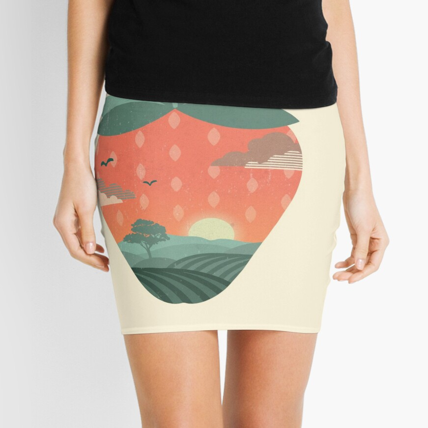 Strawberry Fields Mini Skirt