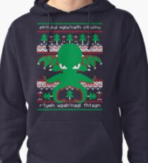 Cthulhu Cultist Christmas - Cthulhu Ugly Christmas Sweater Pullover Hoodie