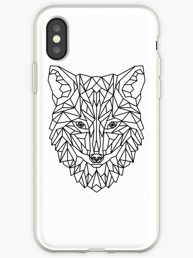 Fox Wolf Dog Geometric as Geometric by Frederik Wichtmann