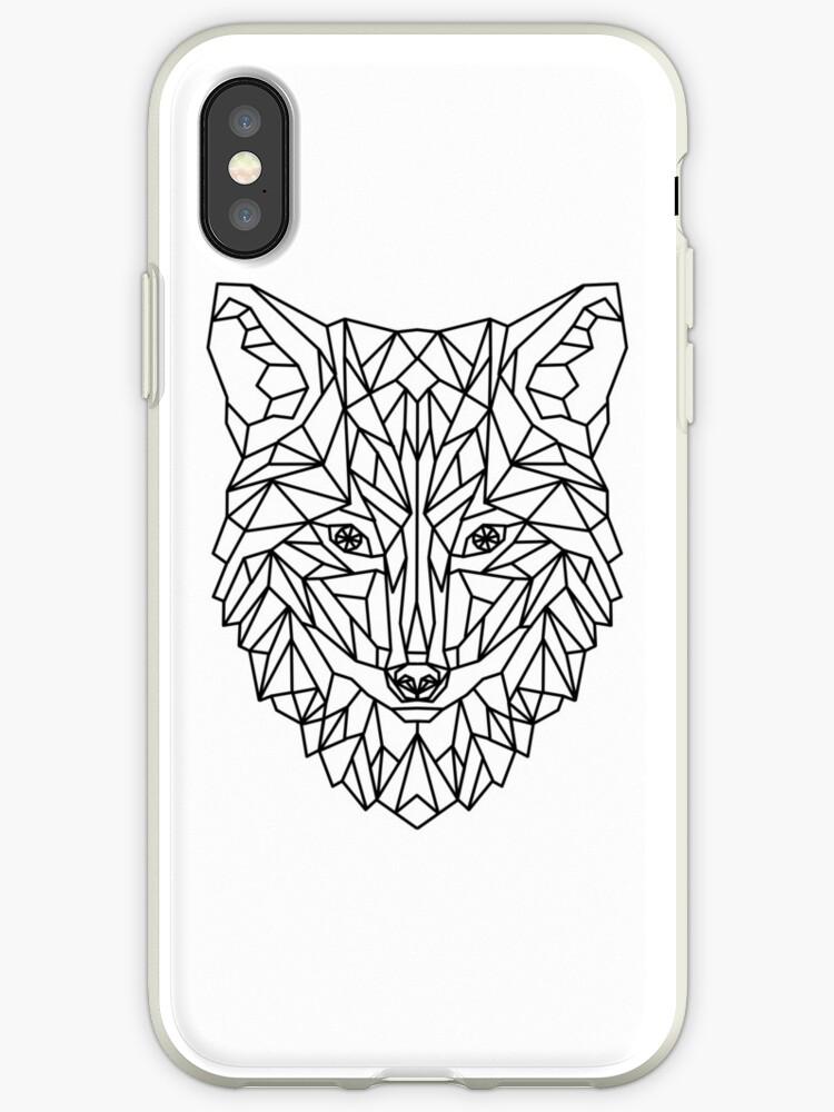 Fox Wolf Dog Geometric as Geometric by Frederik Wichtmann