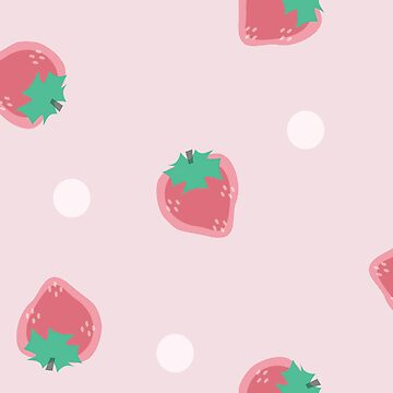 Cute Pink Strawberry  by sassybeedesigns