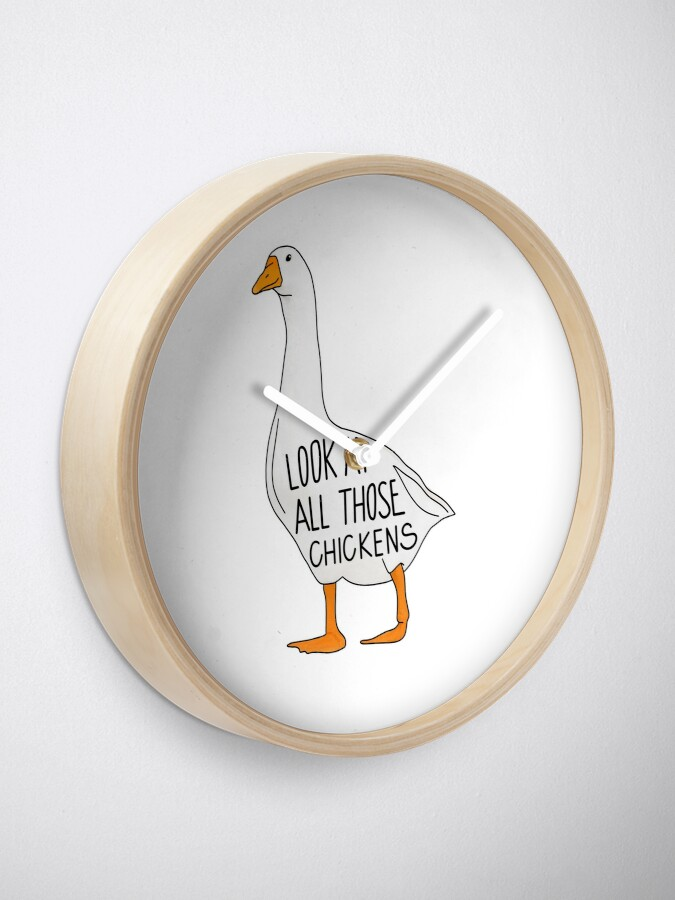 Alternate view of Look at all those chickenssss Clock