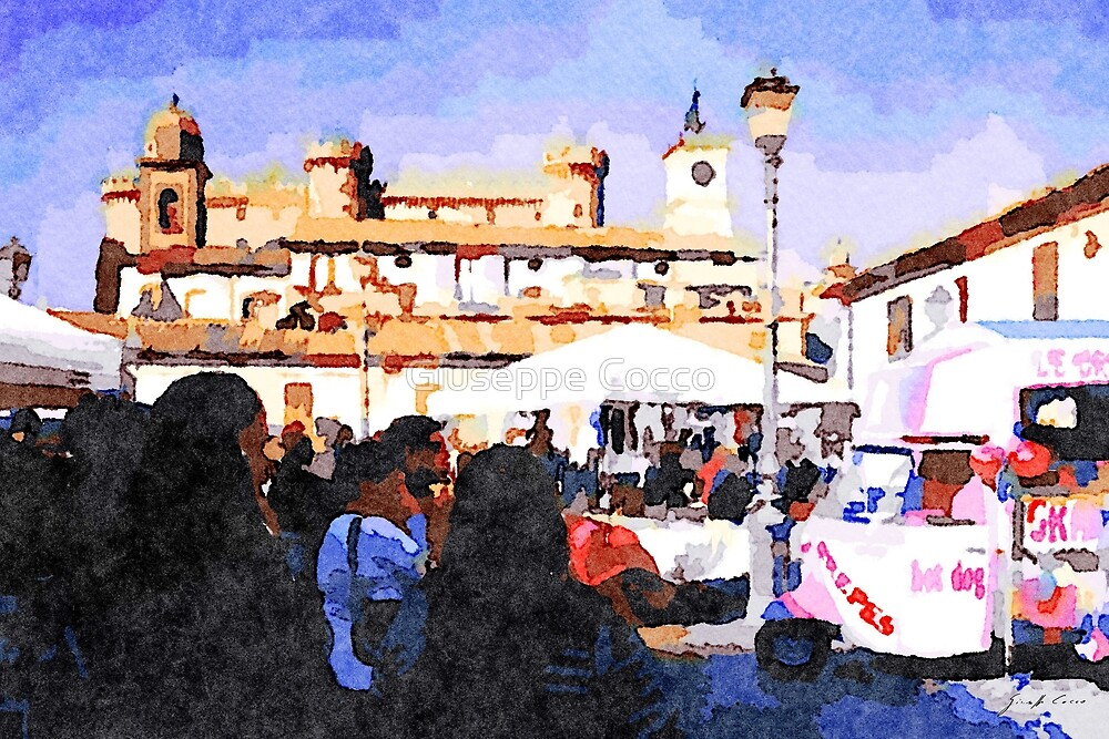 Bracciano: market and castle by Giuseppe Cocco