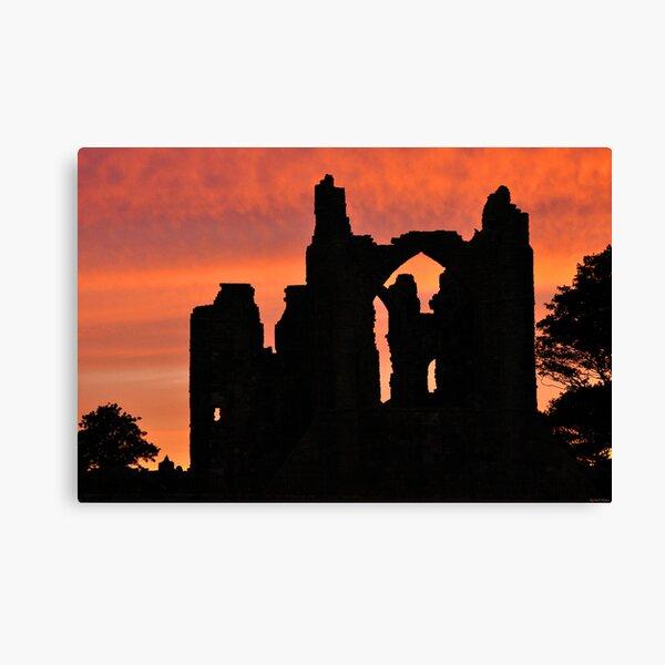 Lindisfarne Priory sunset Canvas Print