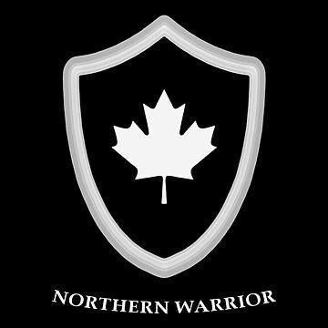 Maple Leaf Shield Northern Warrior Canada by MapleWarrior