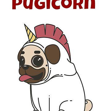 Pugicorn the Unicorn Pug Dog by jutulen