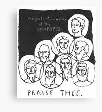 'goodly fellowship' doodle Canvas Print