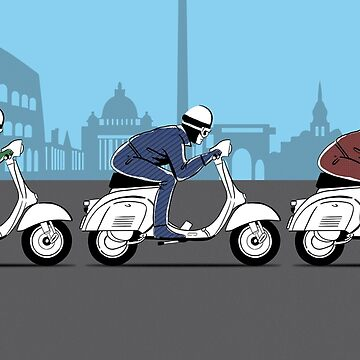 The Scooter Trio by rogue-design