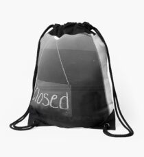 """""""closed"""" - surry hills coffee culture Drawstring Bag"""