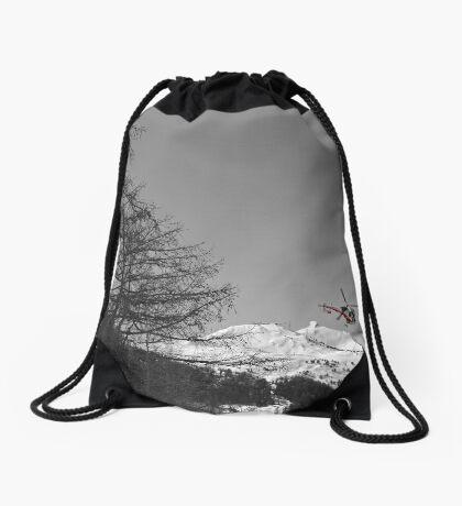 Colourful Copter Drawstring Bag