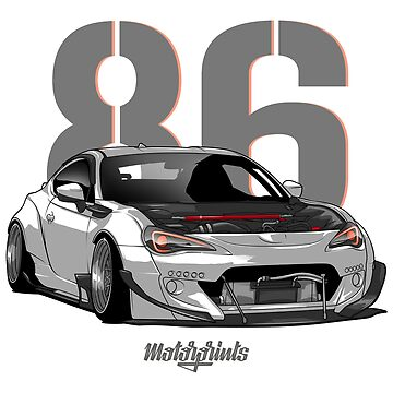 GT86 (white) by MotorPrints