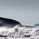 South Bishop Lighthouse from Whitesands, Pembrokeshire, Wales, UK by Jonathan Maddock