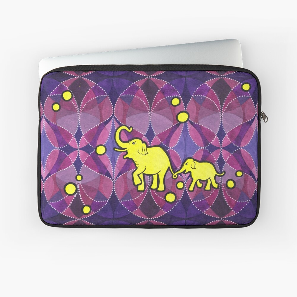 Yellow Elephants Laptoptasche