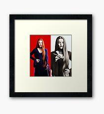 GA as Morticia Adams Framed Print