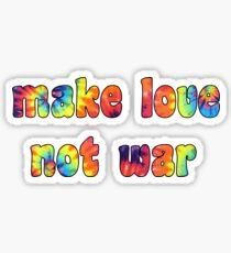 Make Love Not War Sticker