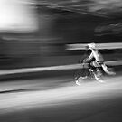 Cyclist in Motion by Steven Newton