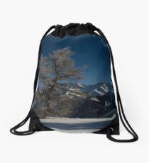 Standing there Drawstring Bag