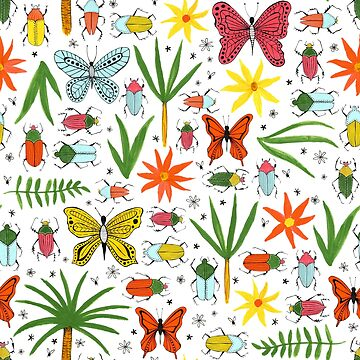 bright beetles, butterflies and blooms by swoldham