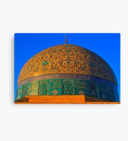 The Dome of Sheikh Lotf Allah Mosque - Esfahan - Iran Canvas Print