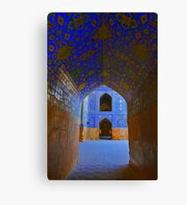Corridors - Imam Mosque - Esfahan - Iran Canvas Print