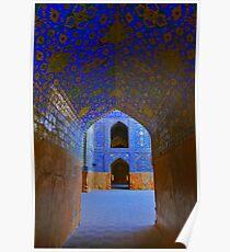Corridors - Imam Mosque - Esfahan - Iran Poster
