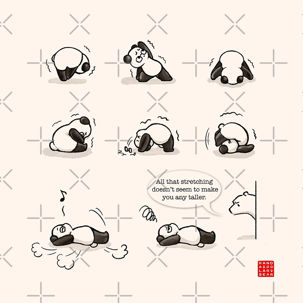 Thats A Funny Yoga Position  By Panda And Polar Bear