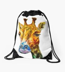 Technicolour Giraffe Drawstring Bag