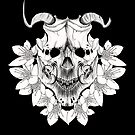 Japanese Skull Inspired Kabuki Mask (On Black) by LukeMartinsArt