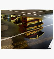 Car Park Reflections Poster