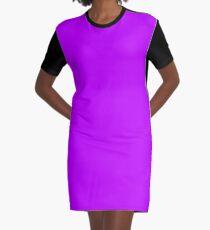 Solid Colour | Electric Purple  | Neon purple 2 Graphic T-Shirt Dress