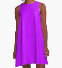 Volltonfarbe | Elektrisches Lila | Neon lila 2 A-Linien Kleid