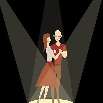 Dancing couple by yanatibear