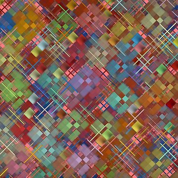 Abstract kaleidoscope and patchwork pattern. by IaroslavB