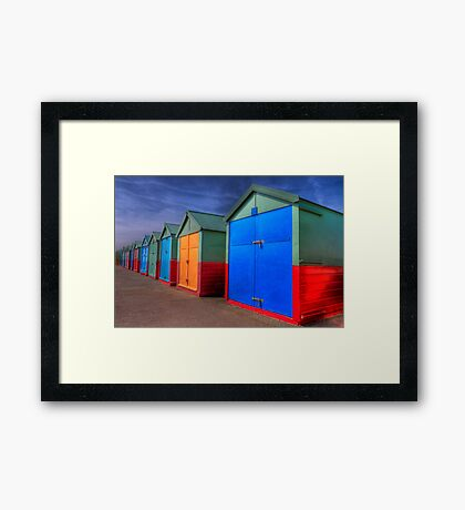 The Painted Beach Huts - Brighton - England Framed Print