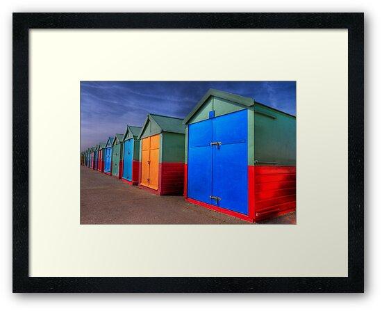 The Painted Beach Huts - Brighton - England by Bryan Freeman