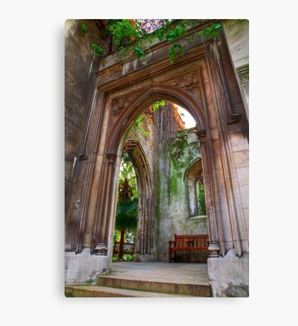 St Dunstan in the East - London Canvas Print