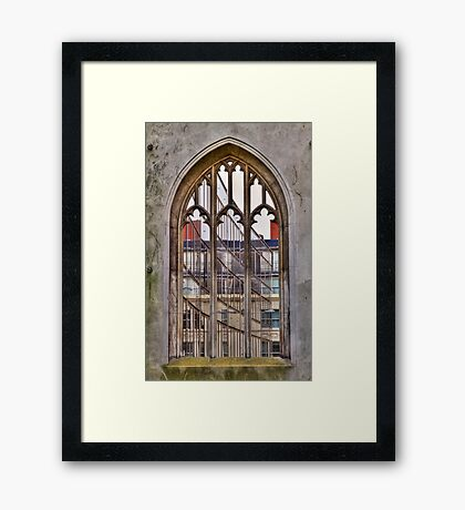 The Windowless Window - St Dunstan in the East - London Framed Print