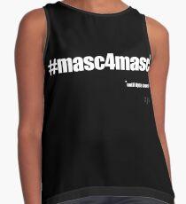 #masc4masc white text - Kylie Sleeveless Top