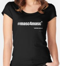 #masc4masc white text - Kylie Women's Fitted Scoop T-Shirt