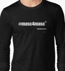 #masc4masc white text - Kylie Long Sleeve T-Shirt