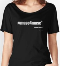 #masc4masc white text - Kylie Women's Relaxed Fit T-Shirt