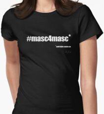 #masc4masc white text - Kylie Women's Fitted T-Shirt