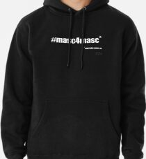 #masc4masc white text - Kylie Pullover Hoodie