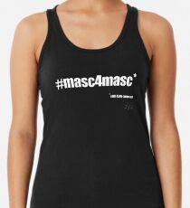 #masc4masc white text - Kylie Racerback Tank Top