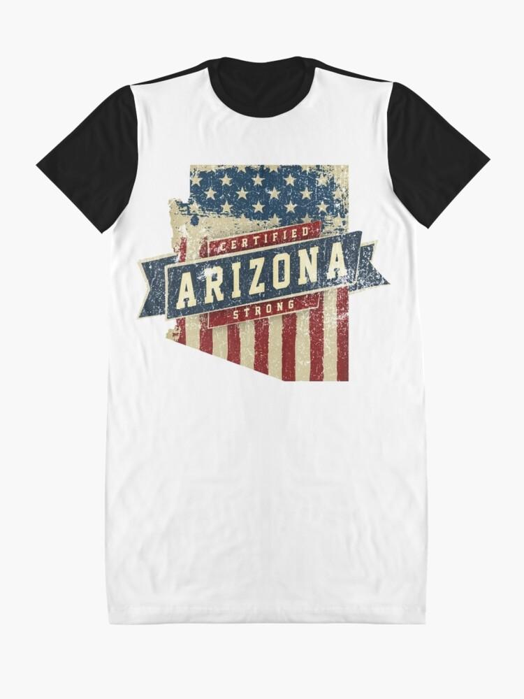 Alternative Ansicht von Arizona Starke USA Flag State Home Certified Großes Geschenk Awesome Stolze Fans T-Shirt Kleid