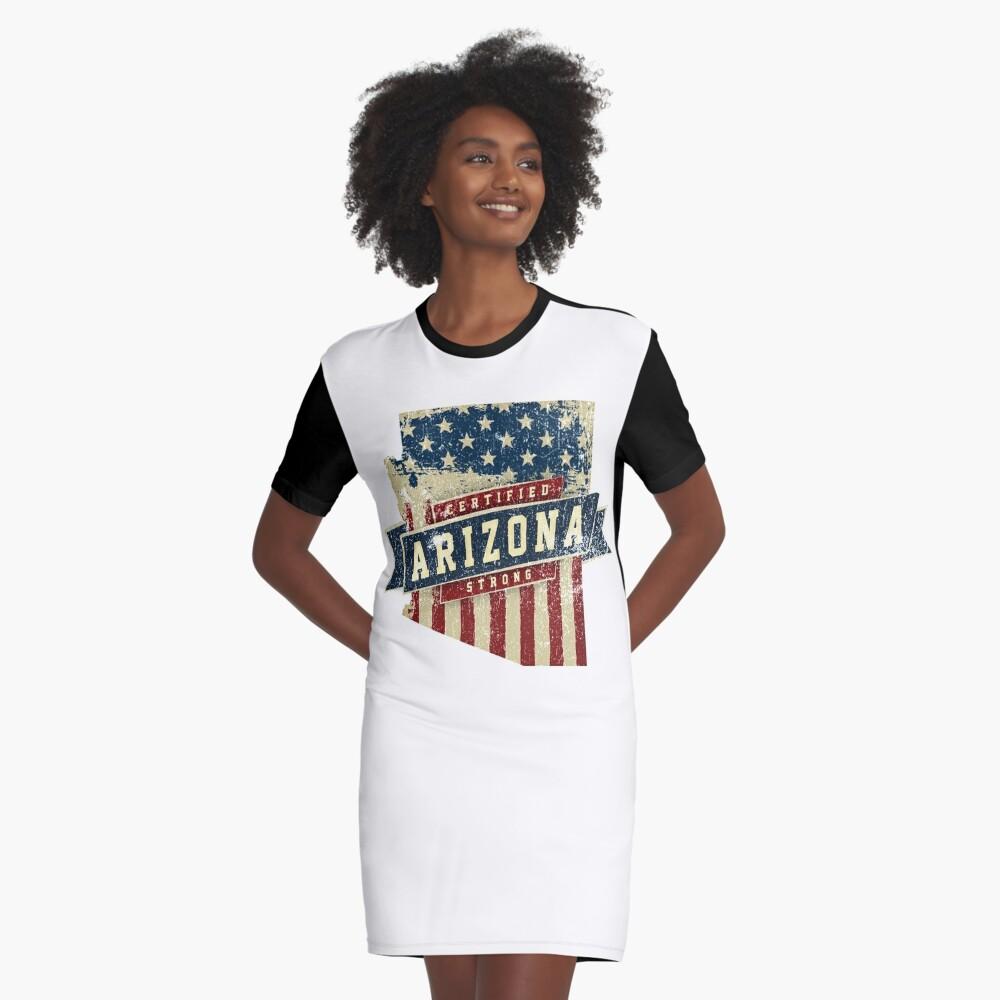 Arizona Starke USA Flag State Home Certified Großes Geschenk Awesome Stolze Fans T-Shirt Kleid